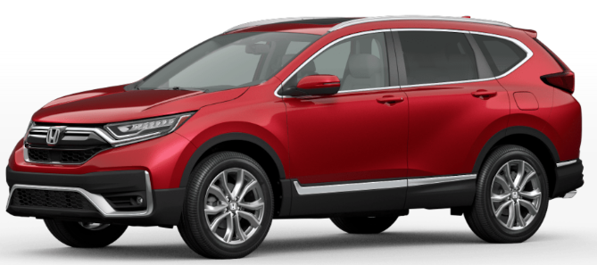 Honda CRV Radiant Red Metallic