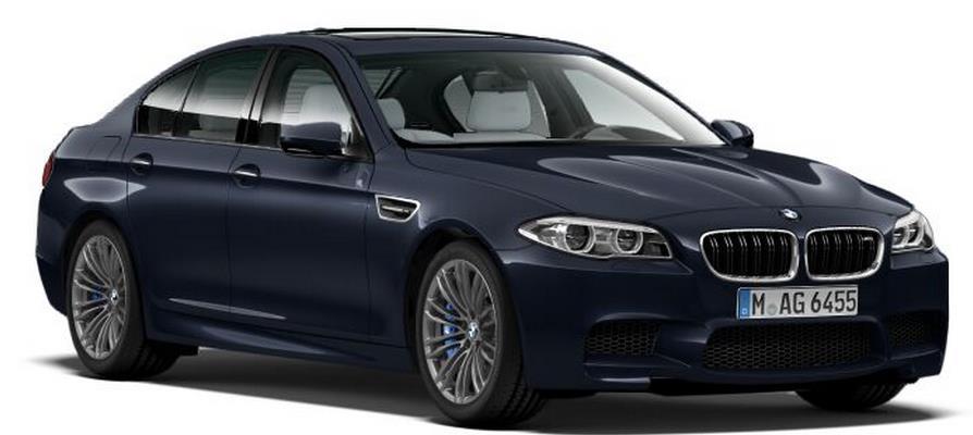 BMW 5 Sedan Imperial Blue Brilliant Effect