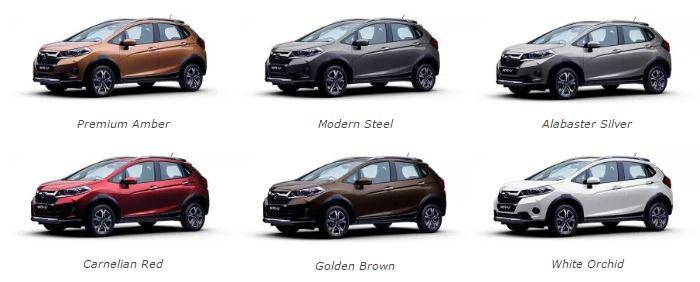 Honda WRV Colors