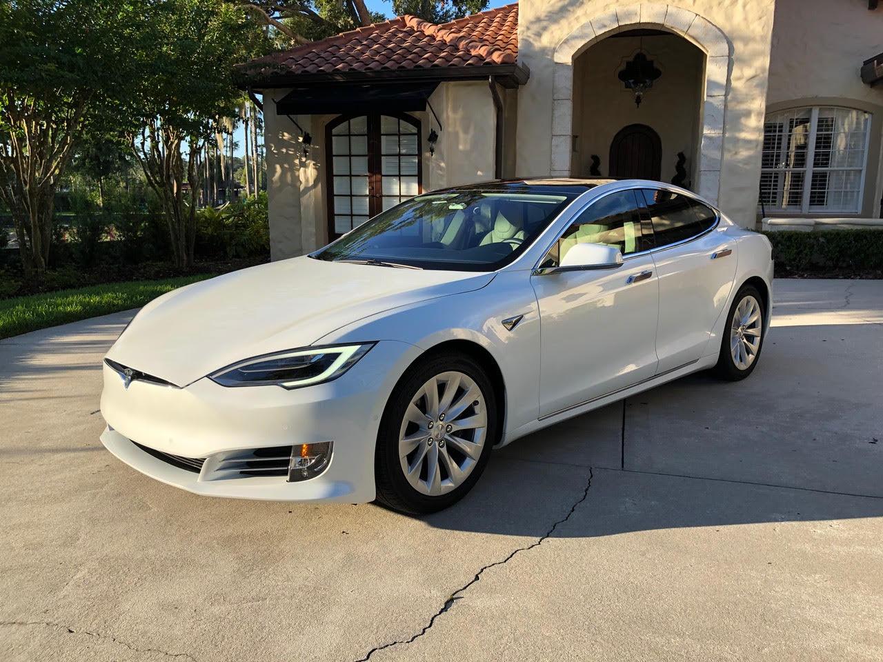 Tesla Model S Pearl White Multi-Coat