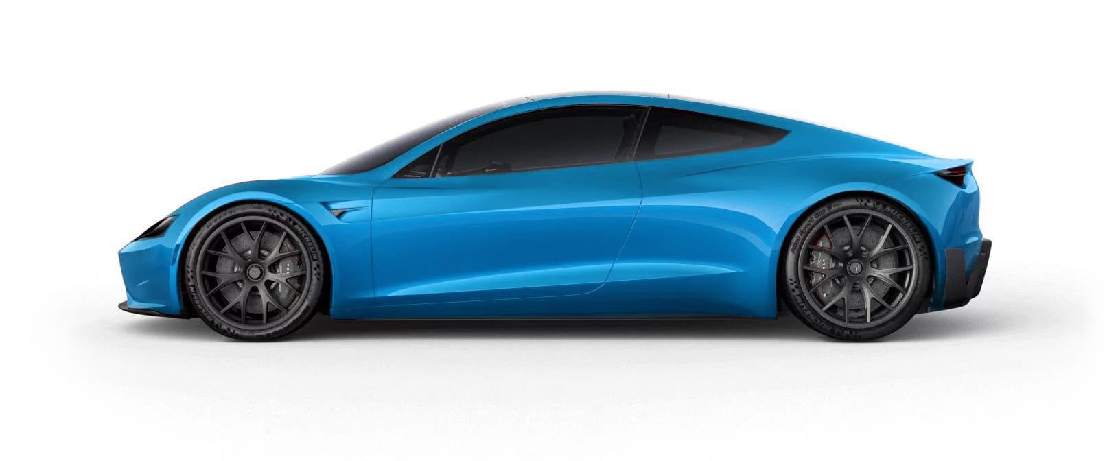 Tesla RoadsterElectric Blue Multi-Coat