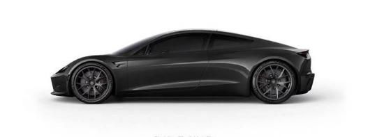 Tesla RoadsterObsidian Black Metallic