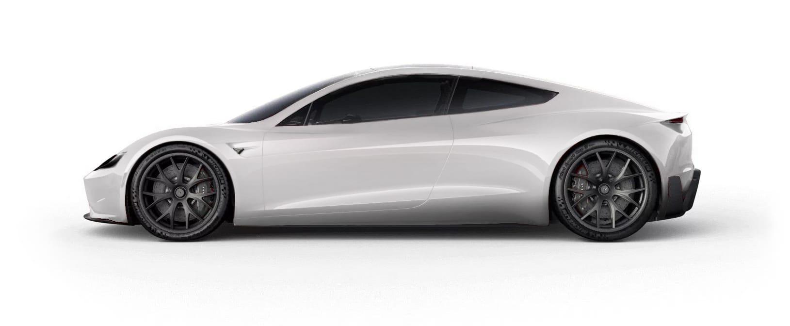 Tesla RoadsterPearl White Multi-Coat